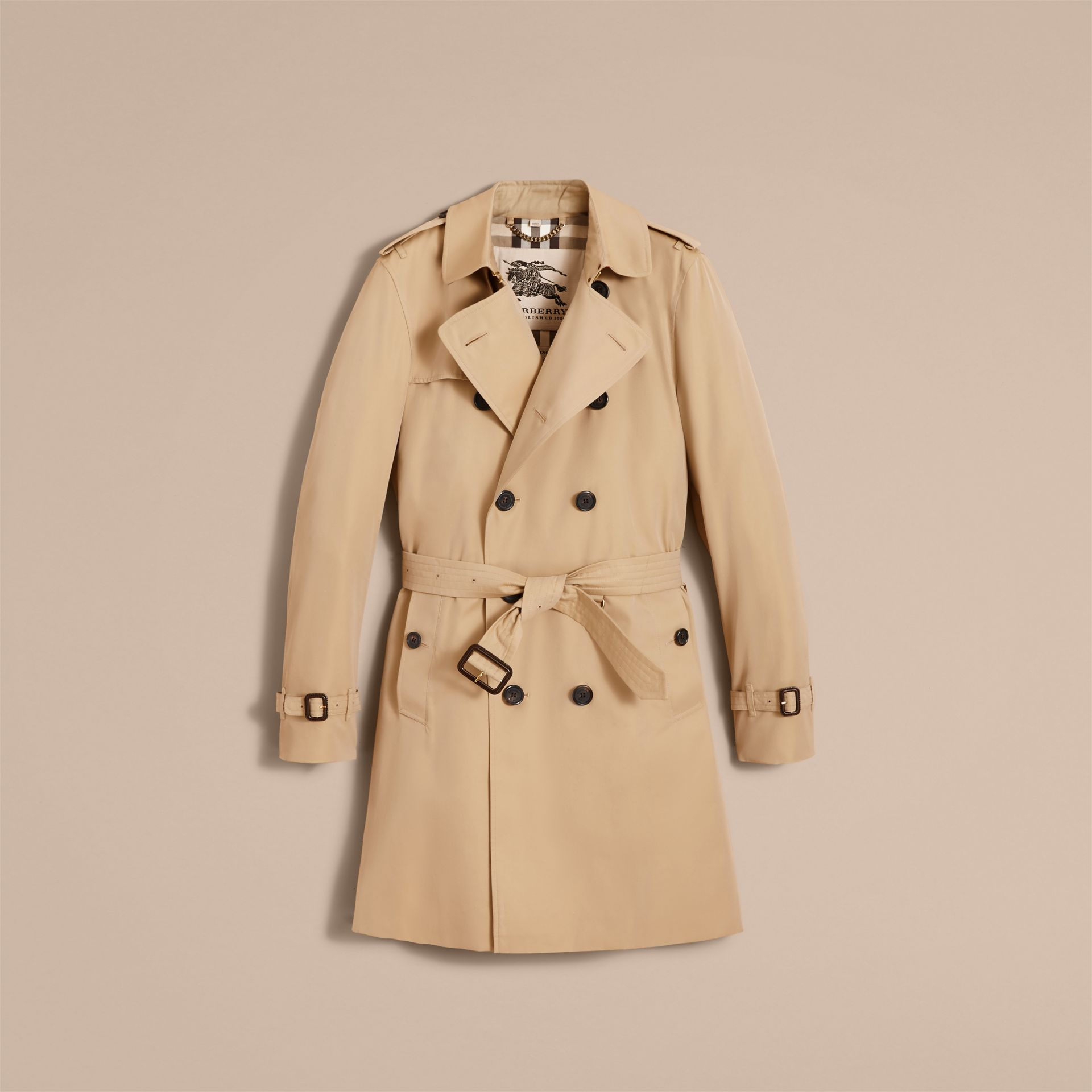Miel The Kensington – Trench-coat Heritage long Miel - photo de la galerie 5