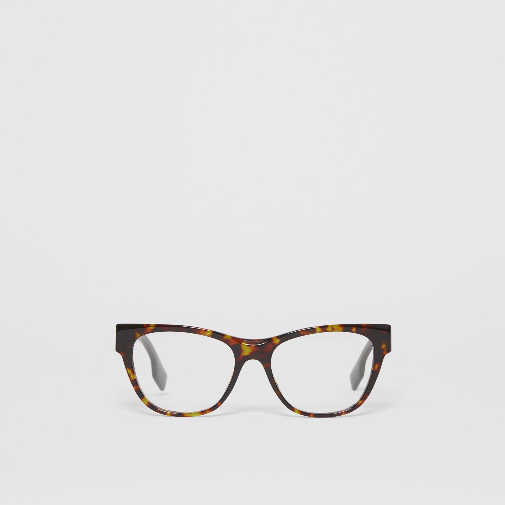 Square Optical Frames in Tortoiseshell - Women | Burberry United Kingdom - gallery image 0