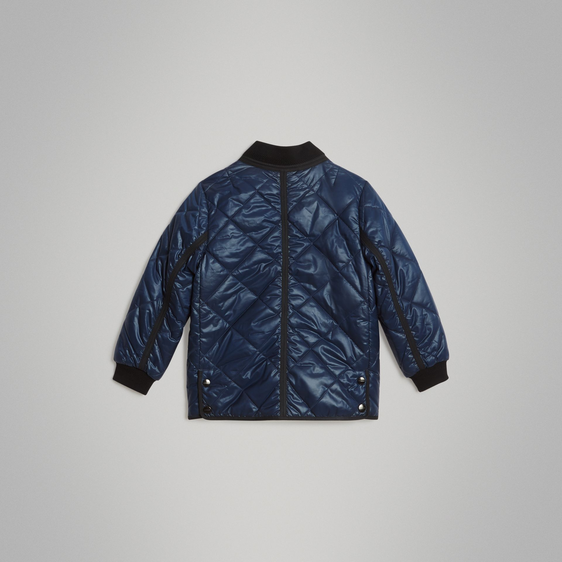 Showerproof Diamond Quilted Jacket in Navy | Burberry Australia - gallery image 3