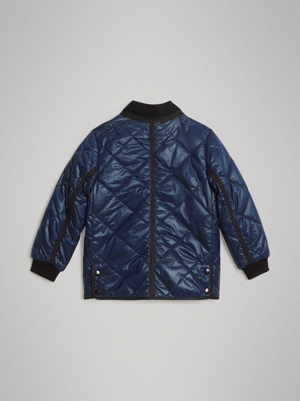 Showerproof Diamond Quilted Jacket in Navy | Burberry - cell image 3