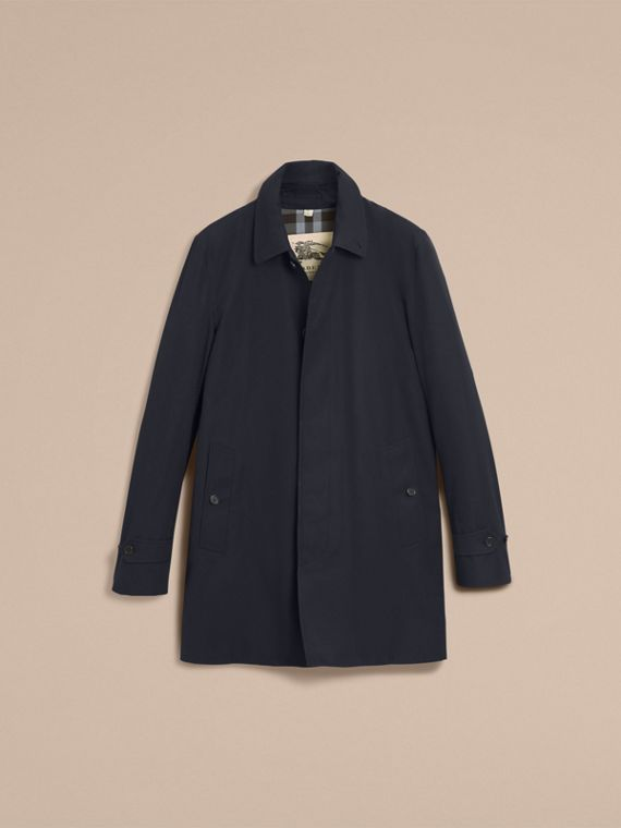 Cotton Gabardine Car Coat in Navy - cell image 3