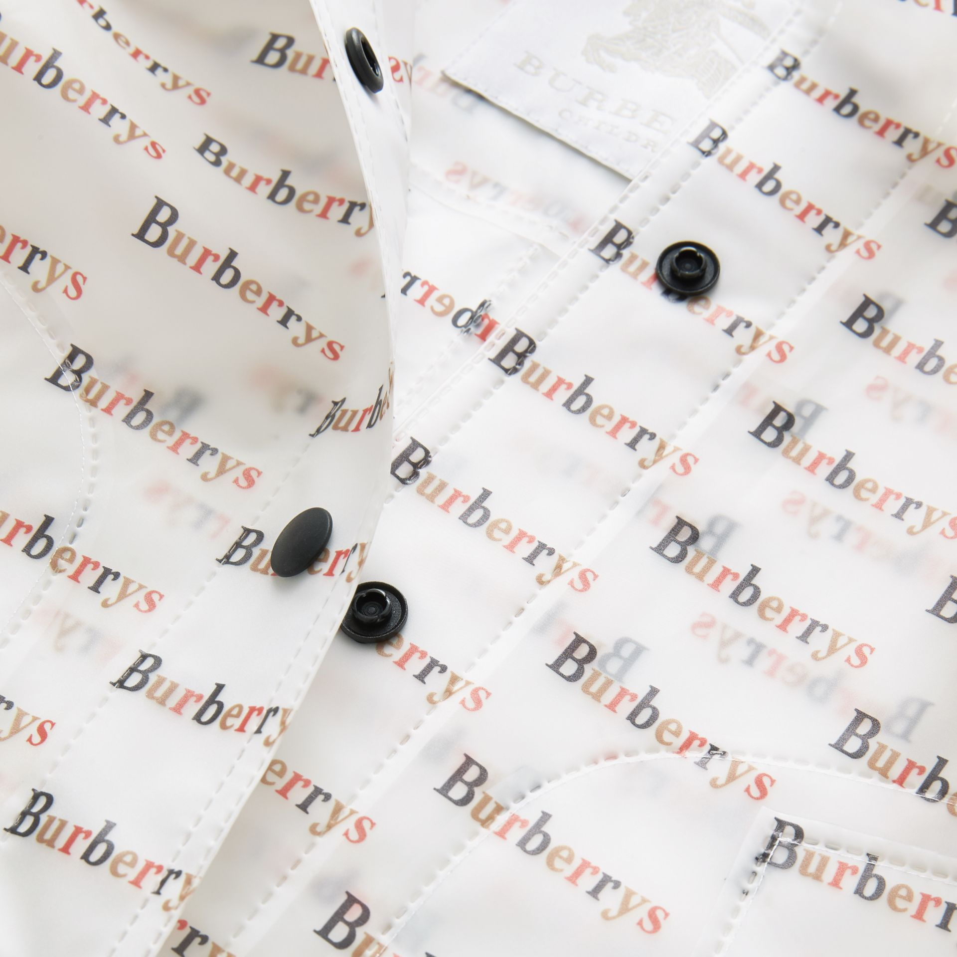 Archive Logo Print Trench Coat in Multicolour - Children | Burberry United States - gallery image 1