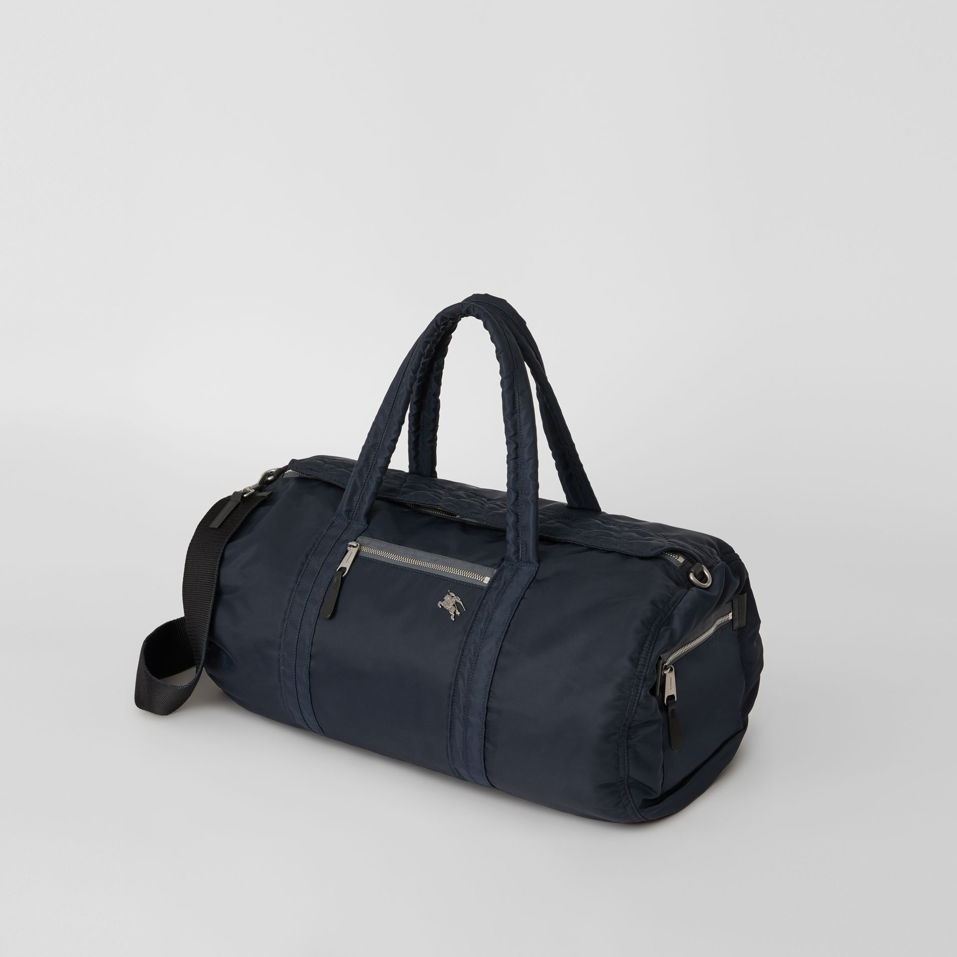 Large EKD Aviator Nylon and Leather Barrel Bag in Ink Blue - Men | Burberry United States - gallery image 4