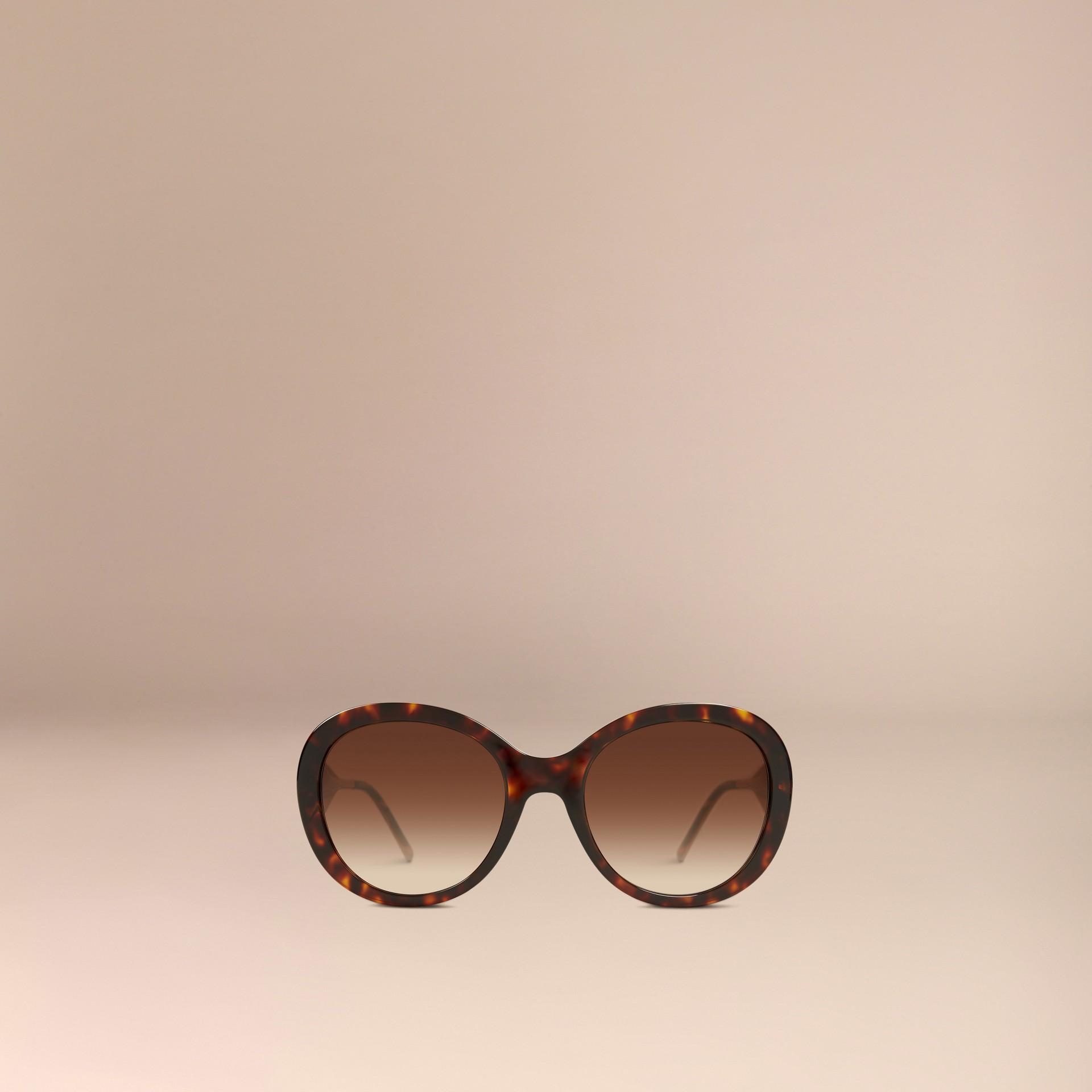 Ebony Gabardine Collection Oversize Round Frame Sunglasses Ebony - gallery image 3