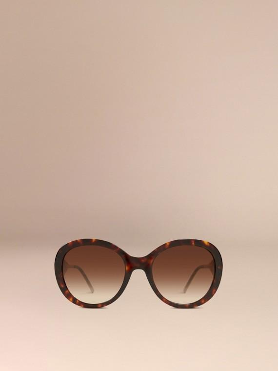 Ebano Occhiali da sole oversize con montatura tonda collezione Gabardine Ebano - cell image 2