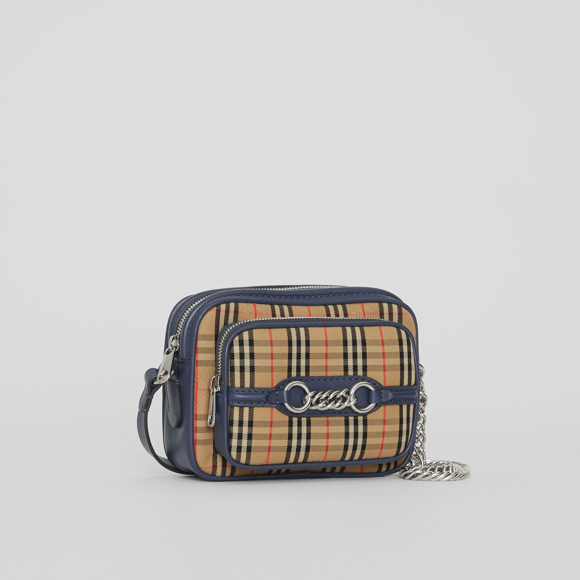 The 1983 Check Link Camera Bag in Ink Blue - Women | Burberry United Kingdom - gallery image 4