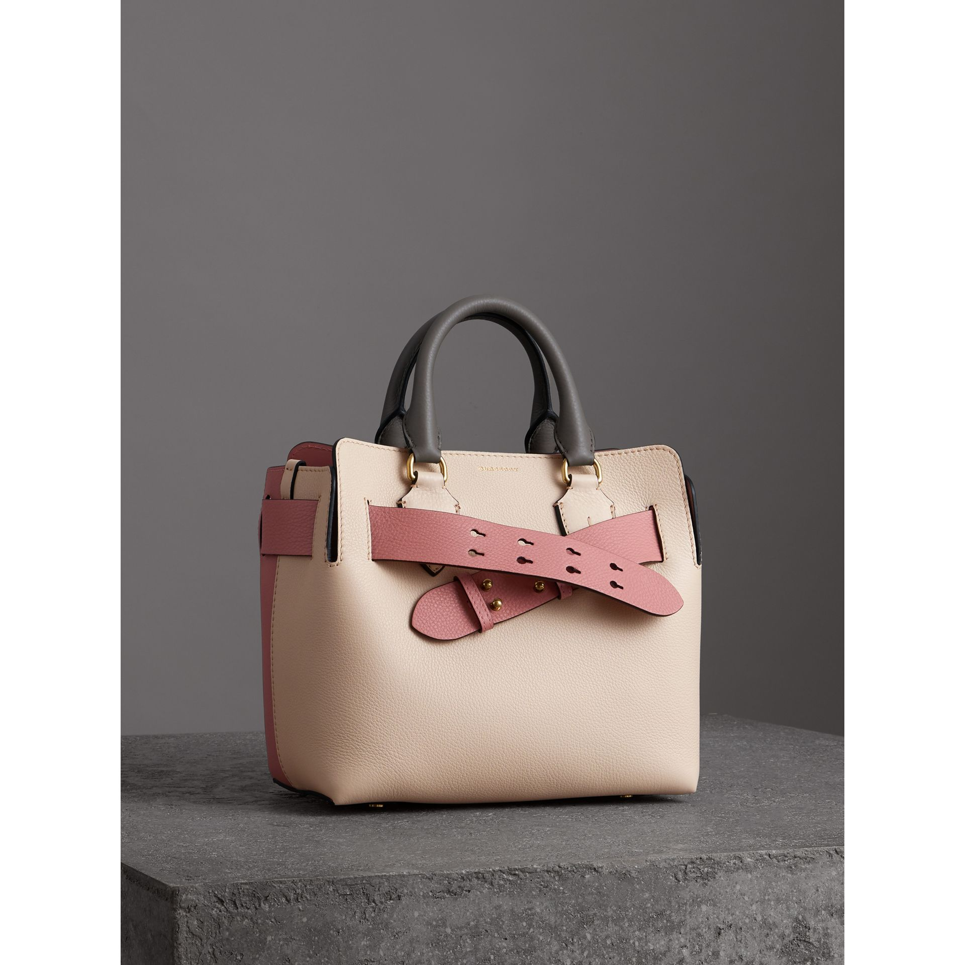 The Small Tri-tone Leather Belt Bag in Limestone/dusty Rose - Women | Burberry United Kingdom - gallery image 6
