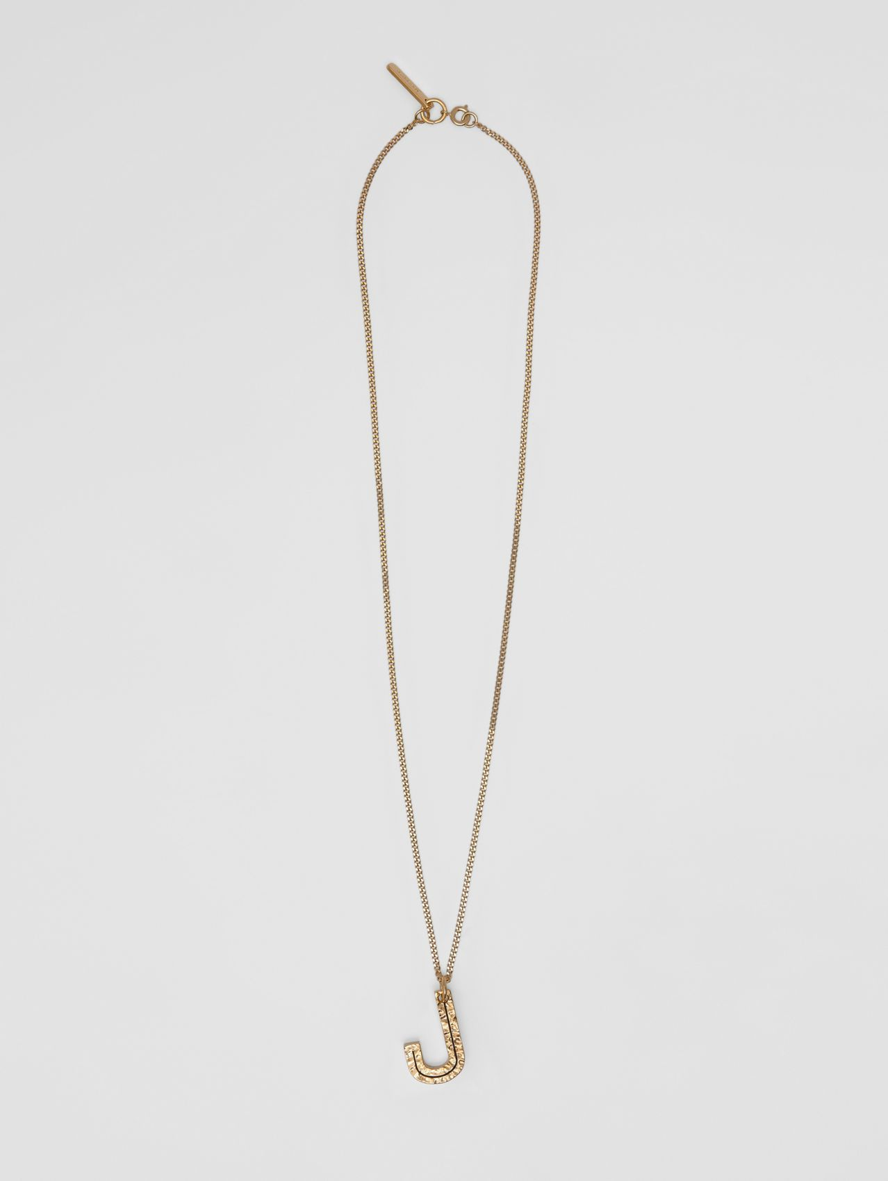 'J' Alphabet Charm Gold-plated Necklace in Light
