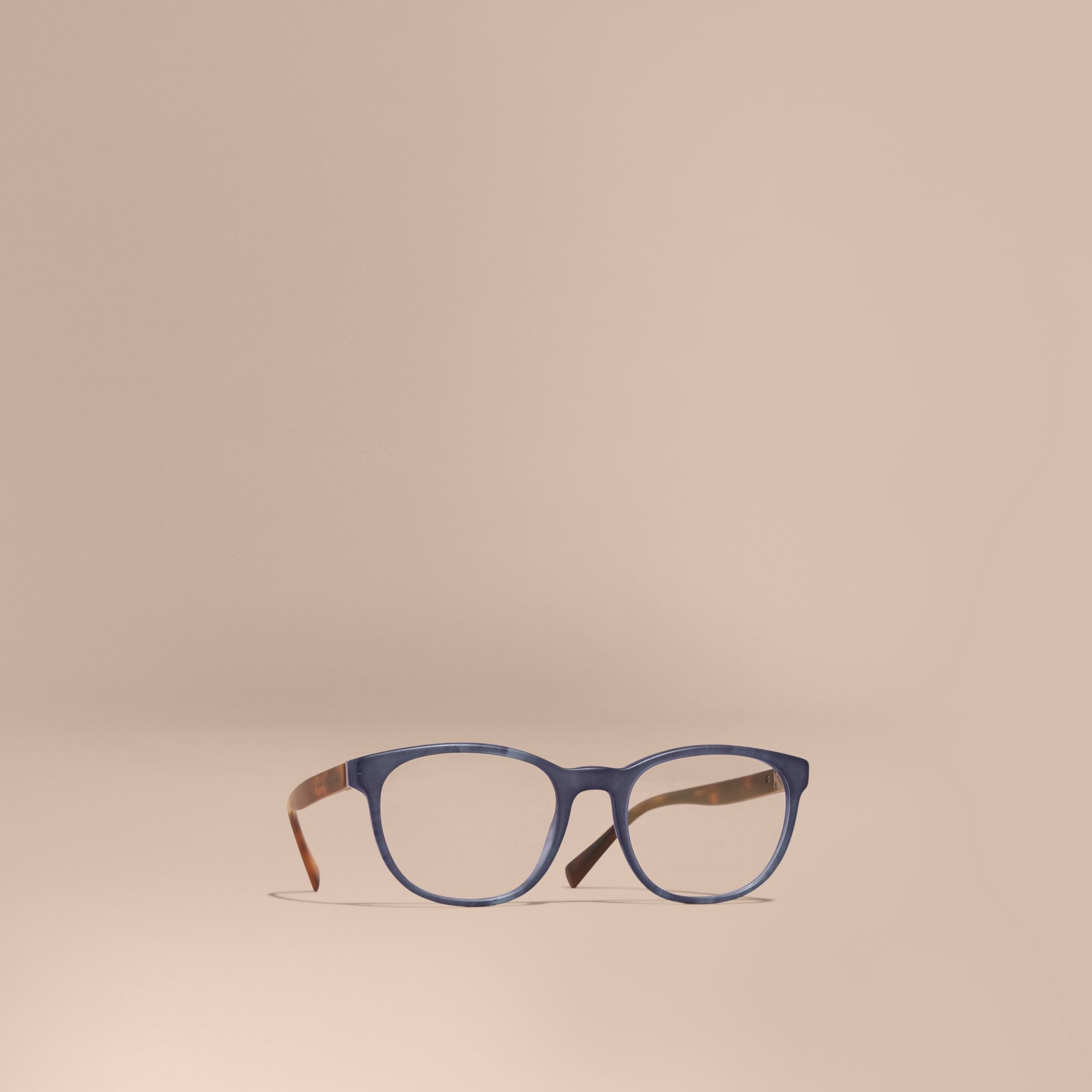 Square Optical Frames Deep Blue - gallery image 1