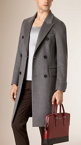 Cashmere Wool Blend Topcoat