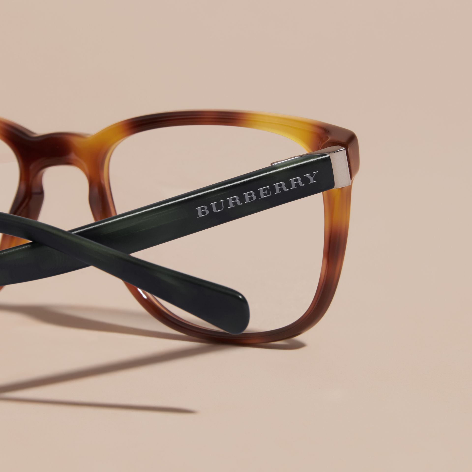 Square Optical Frames Tortoise Shell - gallery image 2