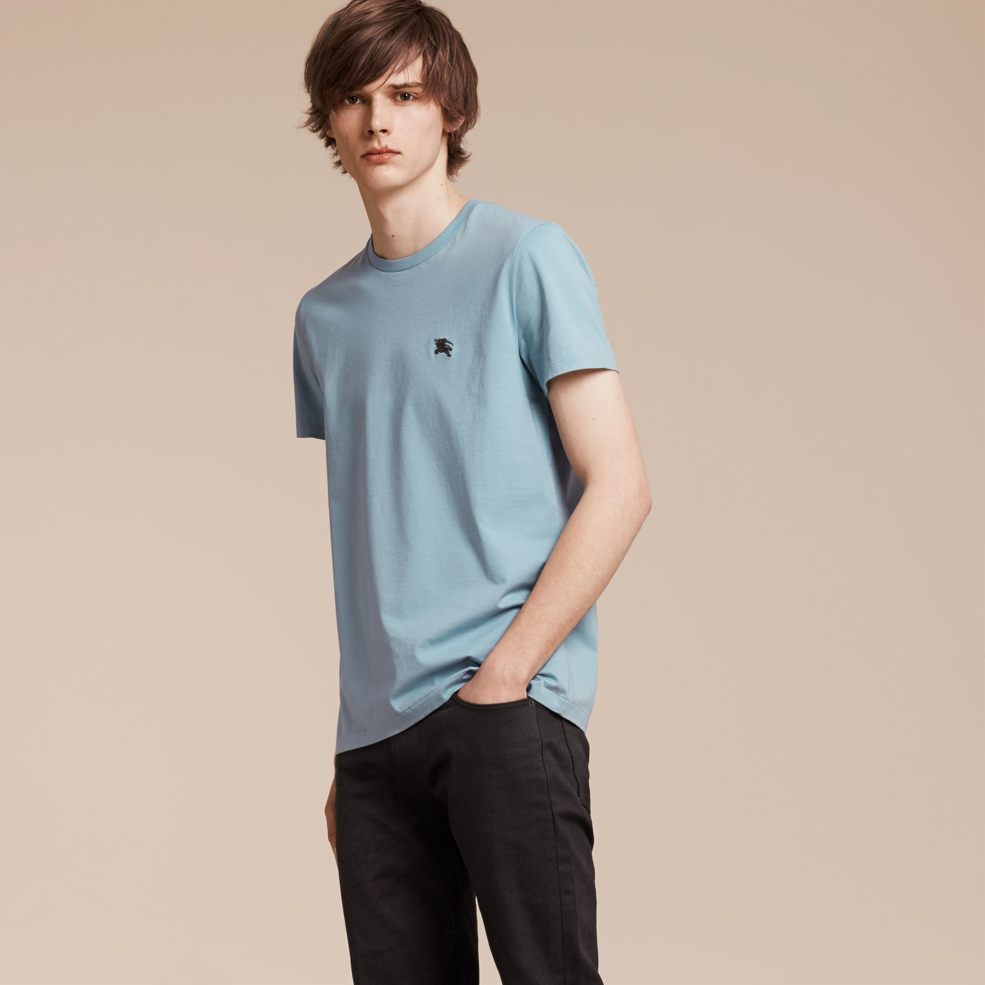 Pale blue Liquid-soft Cotton T-Shirt Pale Blue - gallery image 1