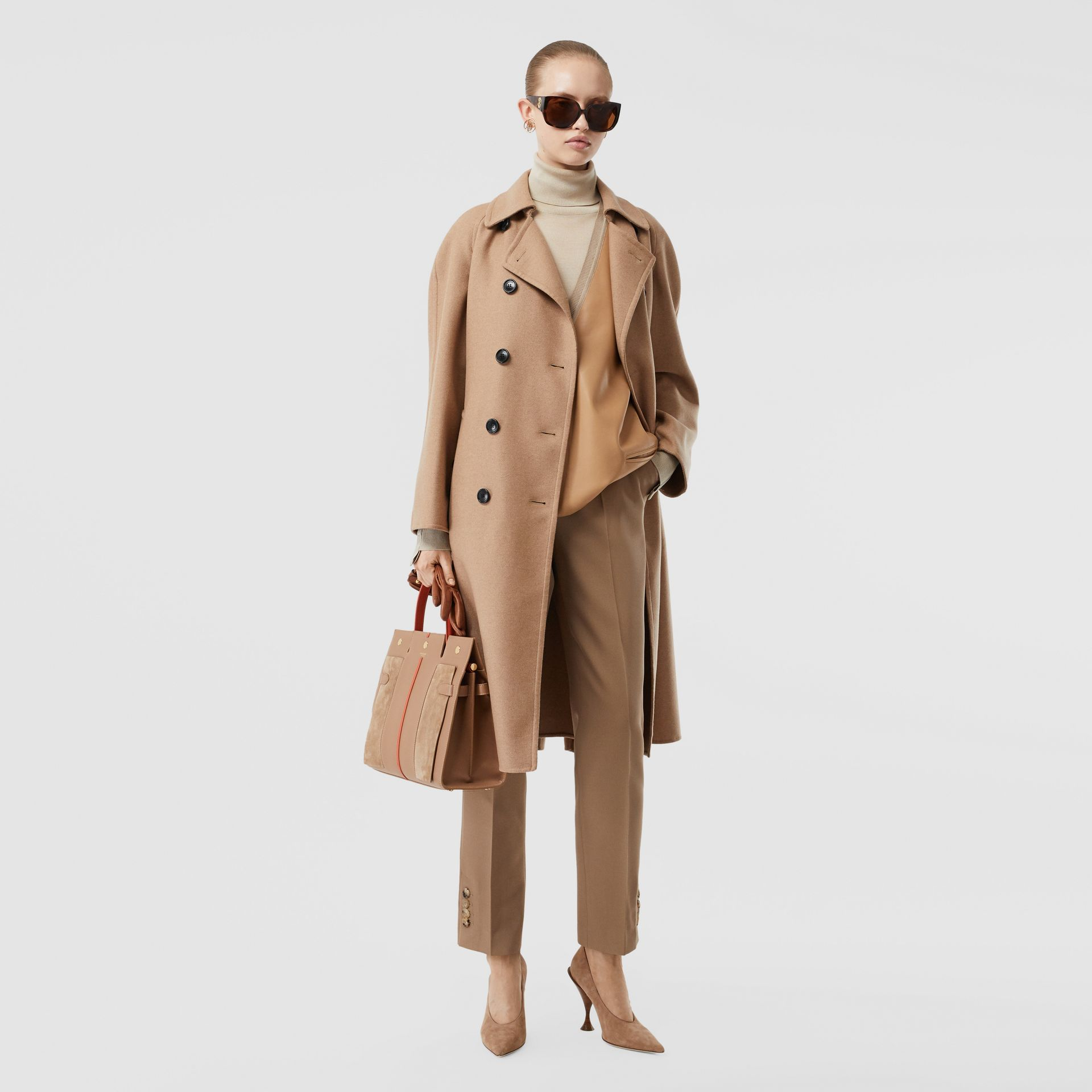 Double-faced Cashmere Trench Coat in Camel - Women | Burberry - gallery image 0