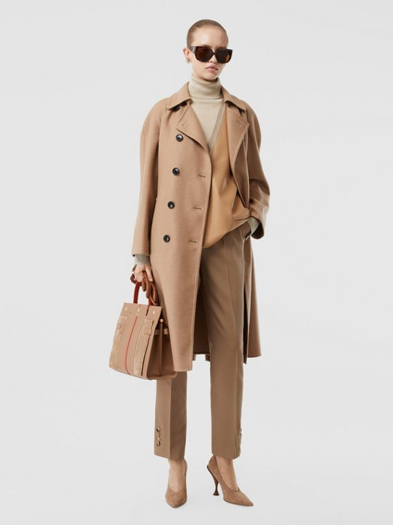 Double-faced Cashmere Trench Coat in Camel