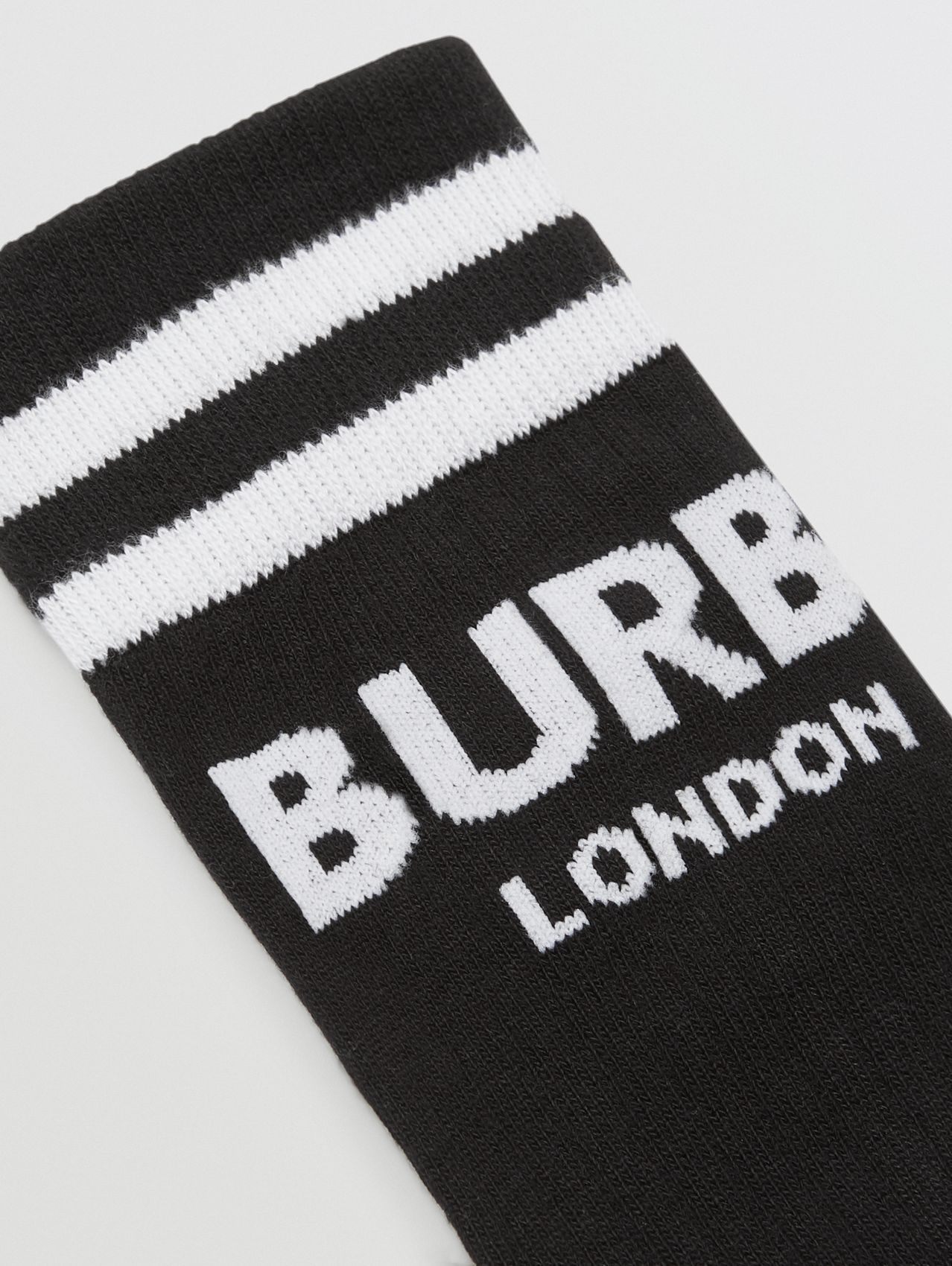 Logo Cotton Blend Socks in Black/white