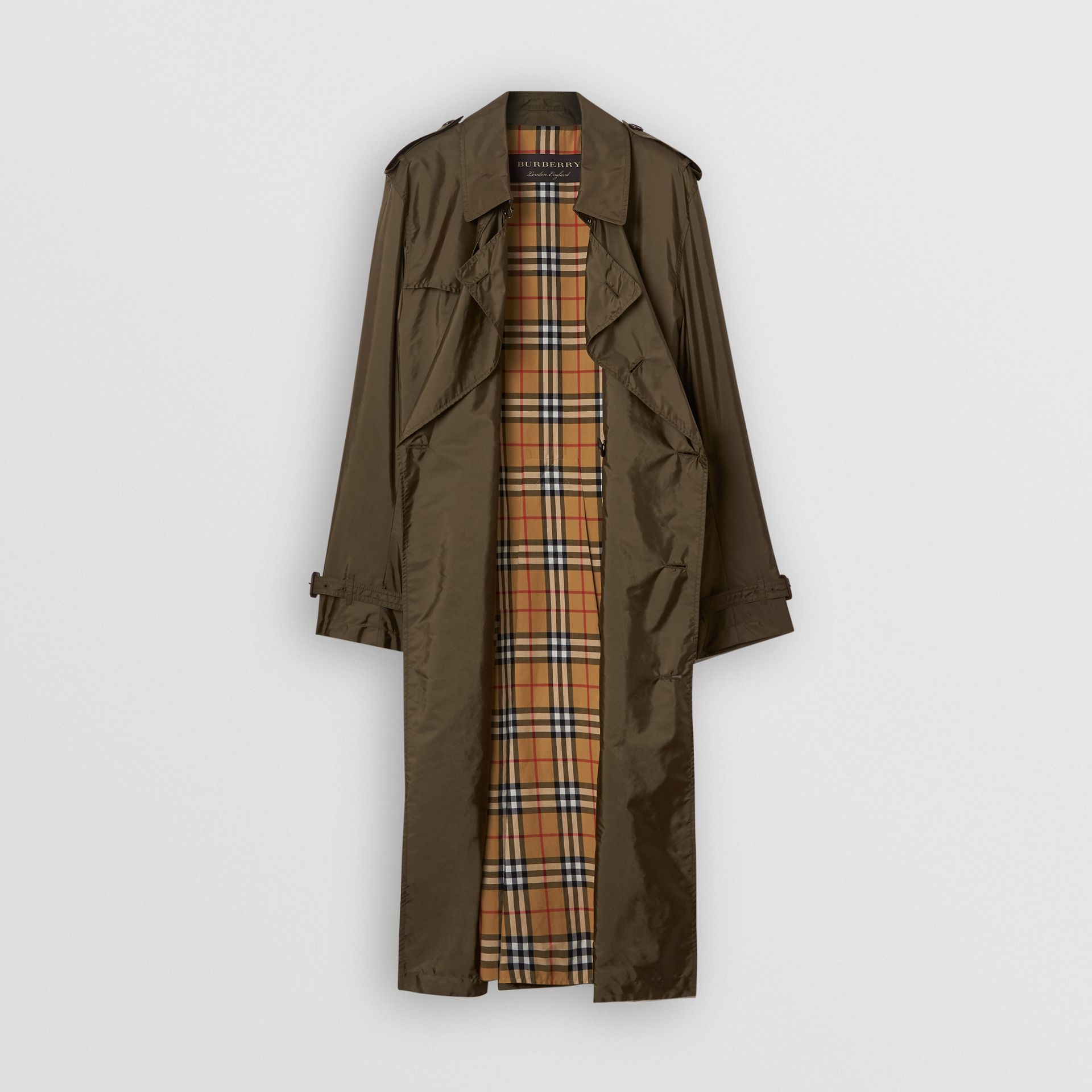 Lightweight Nylon Trench Coat in Military Green - Men | Burberry - gallery image 3