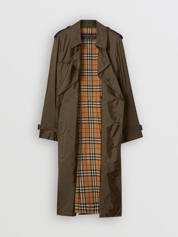 Lightweight Nylon Trench Coat in Military Green - Men | Burberry Hong Kong - cell image 3