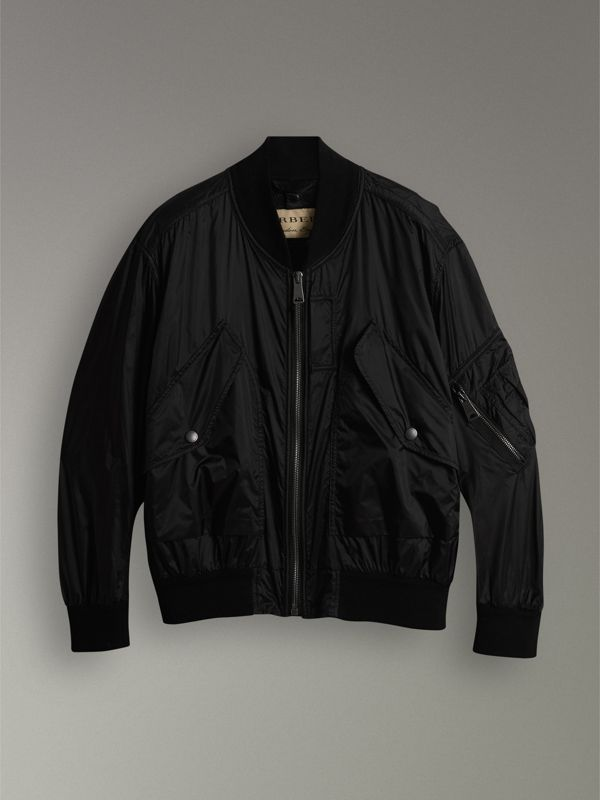 Lightweight Technical Bomber Jacket in Black - Men | Burberry Canada - cell image 3