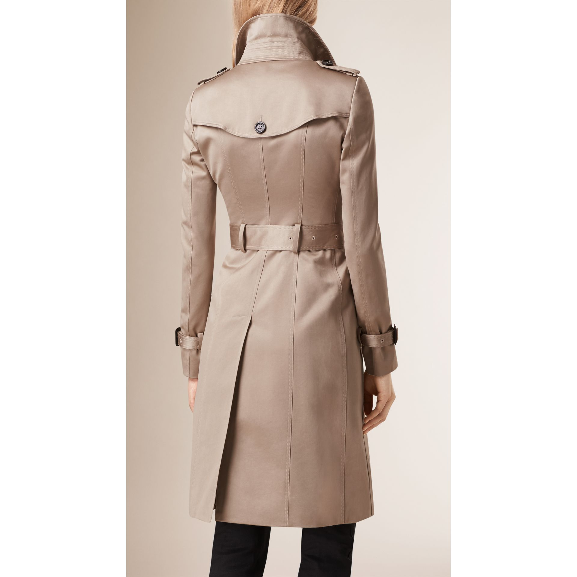 Trench Cotton Sateen Trench Coat  - gallery image 3