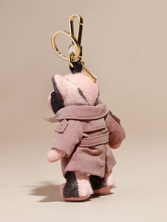 Thomas Bear Charm with Tropical Gabardine Trench Coat Ash Rose - cell image 3