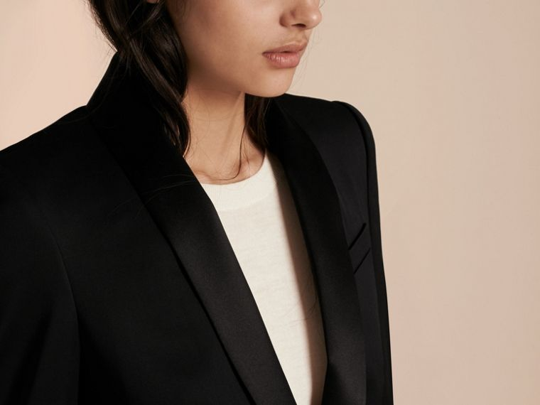 Stretch Wool Tuxedo Jacket - cell image 4