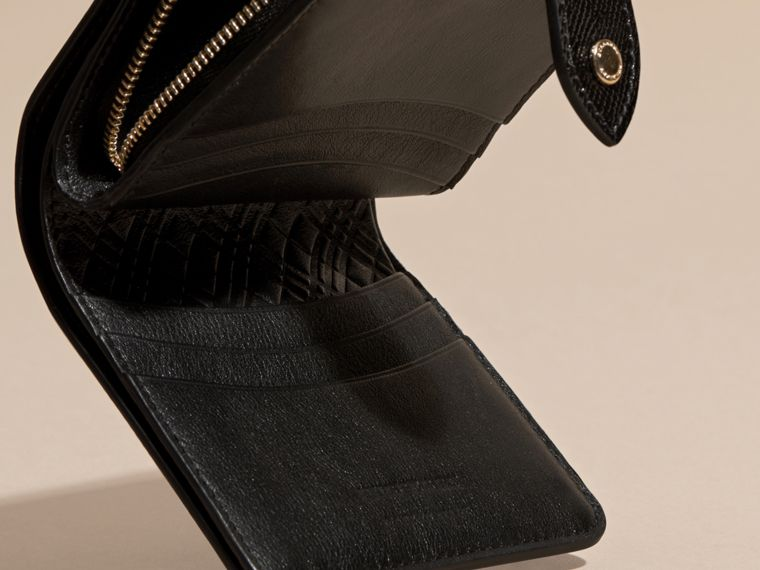 Black Patent London Leather Wallet Black - cell image 4