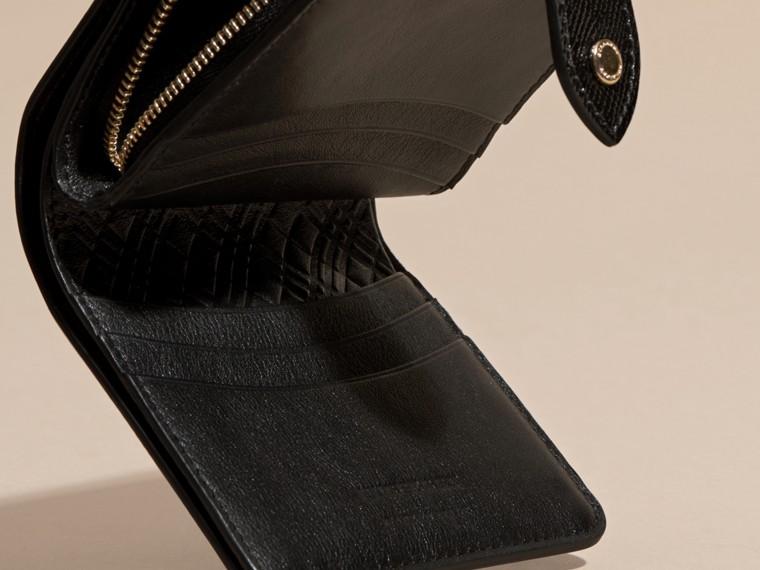 Nero Portafoglio in pelle London verniciata Nero - cell image 4