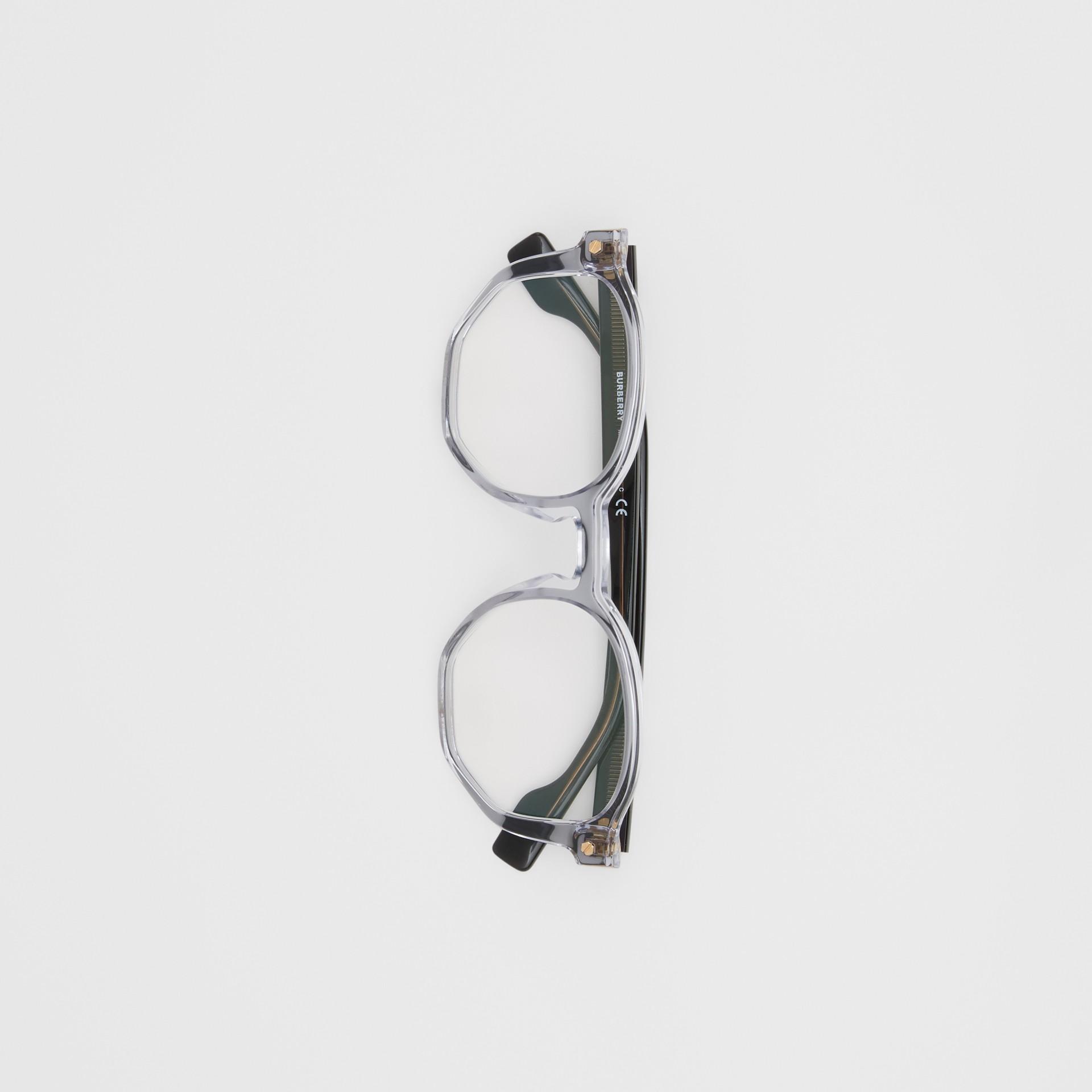 Geometric Optical Frames in Grey - Women   Burberry - gallery image 3