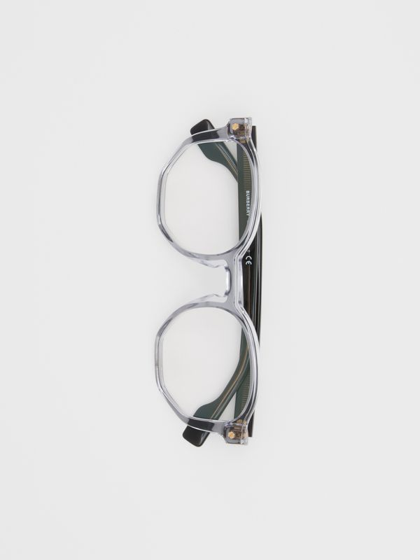 Geometric Optical Frames in Grey - Women | Burberry - cell image 3