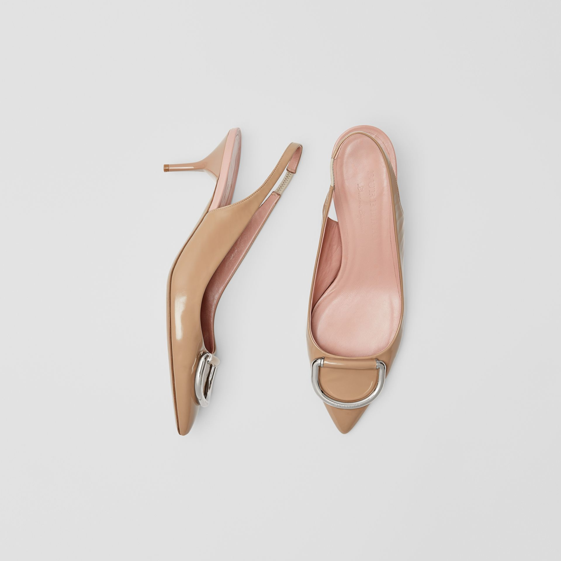 The Leather D-ring Slingback Pump in Nude Blush - Women | Burberry - gallery image 0