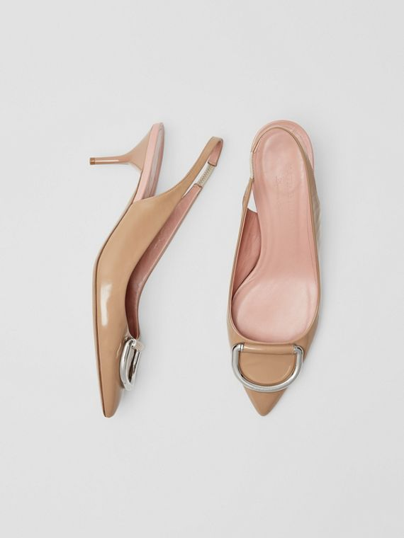 The Leather D-ring Slingback Pump in Nude Blush