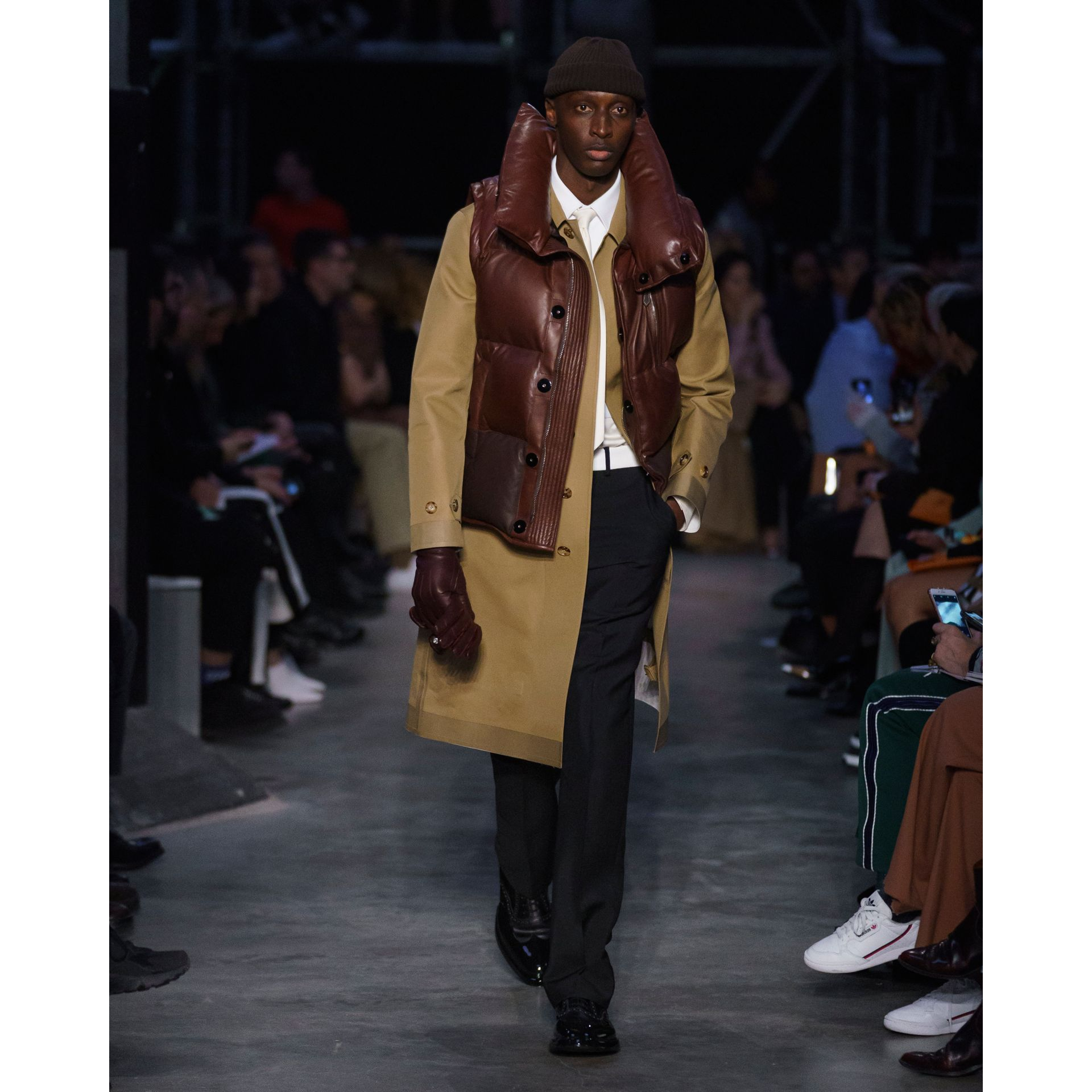 Double-faced Cotton Silk Car Coat in Camel - Men | Burberry - gallery image 8