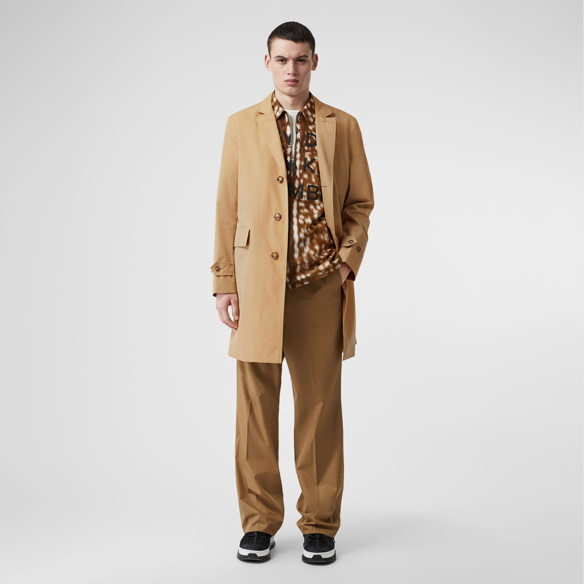 Cotton Gabardine Car Coat in Honey - Men | Burberry - gallery image 0