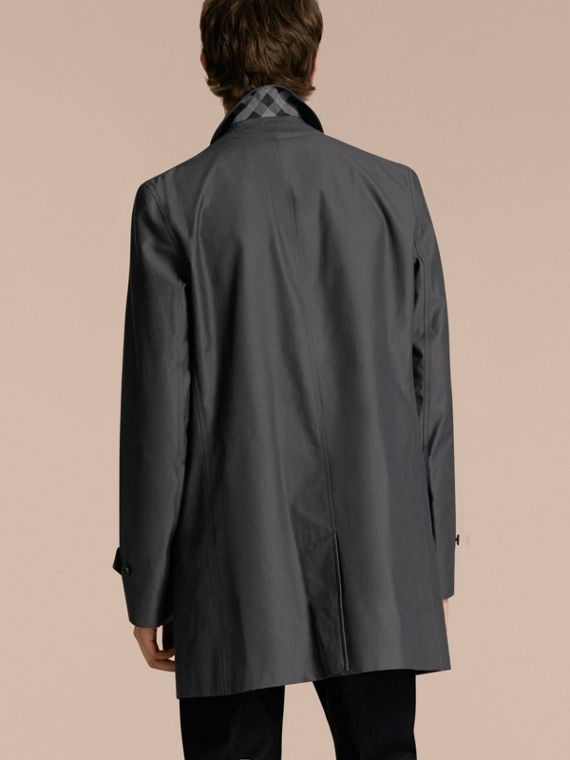 Cotton Gabardine Car Coat True Indigo - cell image 2