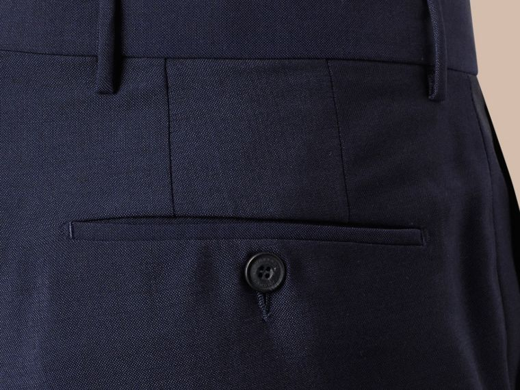 Modern Fit Wool Mohair Trousers Royal Navy - cell image 1