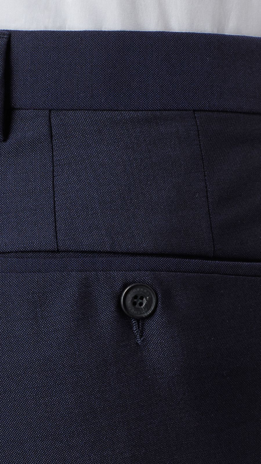 Royal navy Modern Fit Wool Mohair Trousers Royal Navy - Image 2