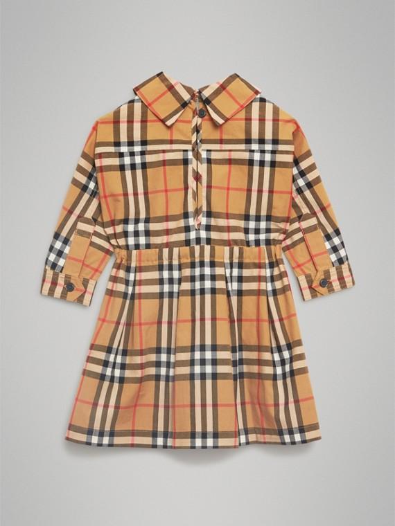 Robe à cordon de serrage en coton à motif Vintage check (Jaune Antique) | Burberry - cell image 3