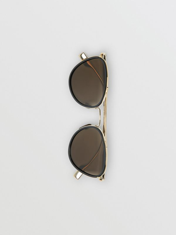 Pilot Sunglasses in Black - Women | Burberry United Kingdom - cell image 3