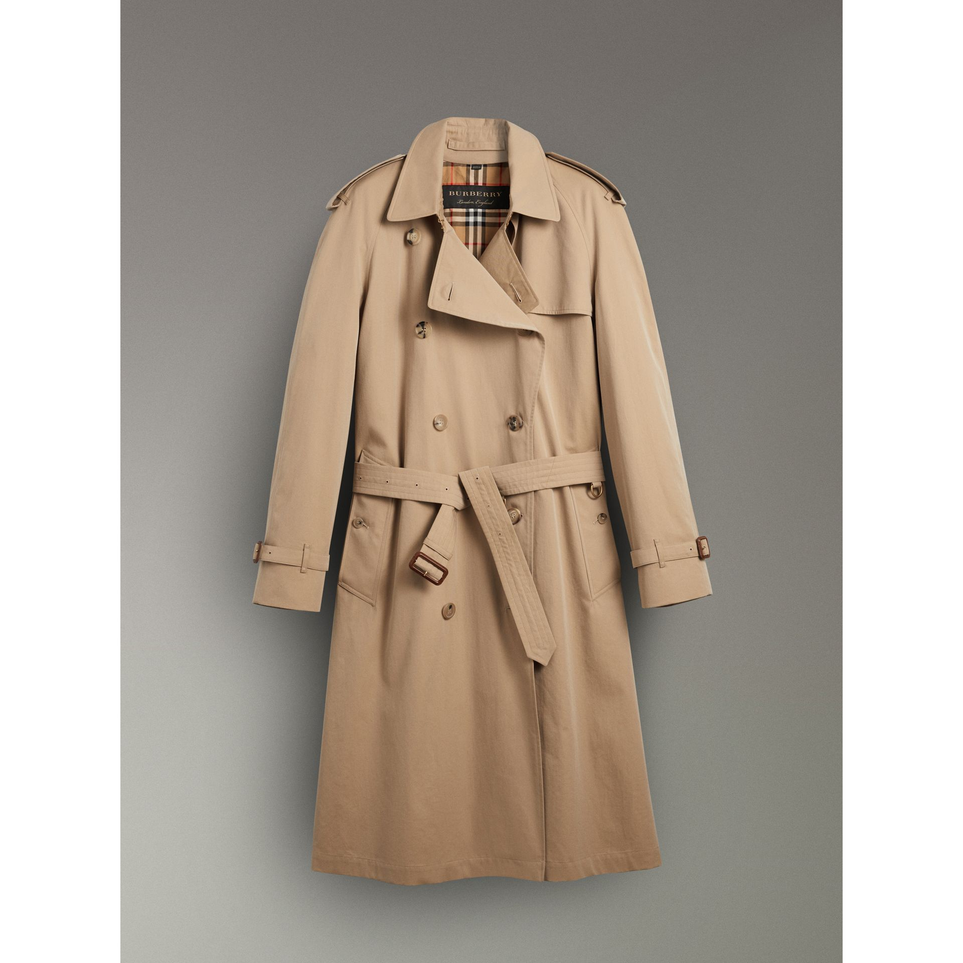 Rainbow Tropical Gabardine Trench Coat in Honey - Women | Burberry - gallery image 3