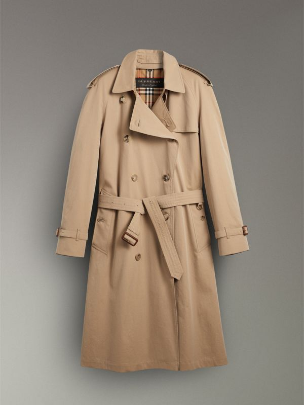 Tropical Gabardine Trench Coat in Honey - Women | Burberry Australia - cell image 3