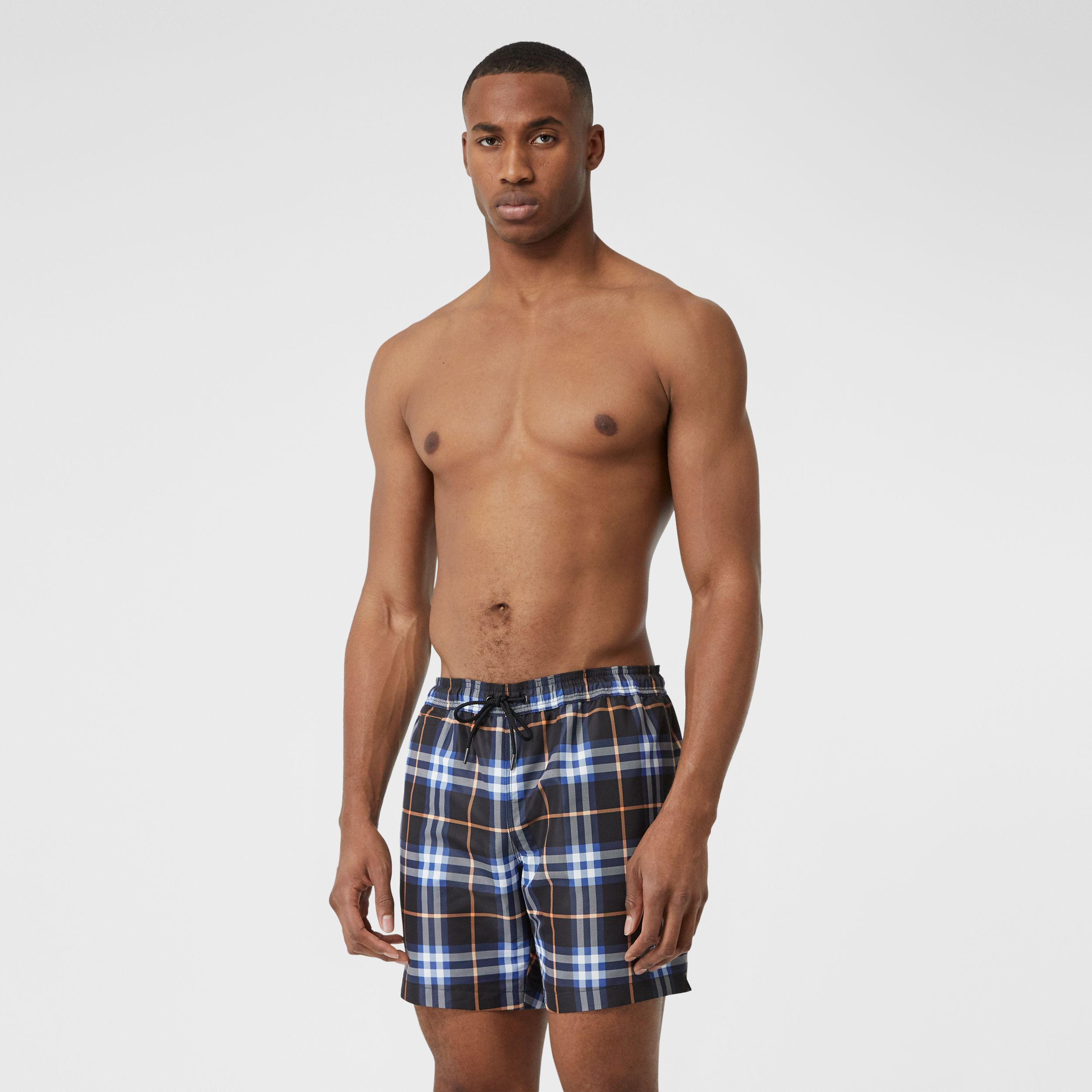 Check Drawcord Swim Shorts in Melon - Men | Burberry - 1