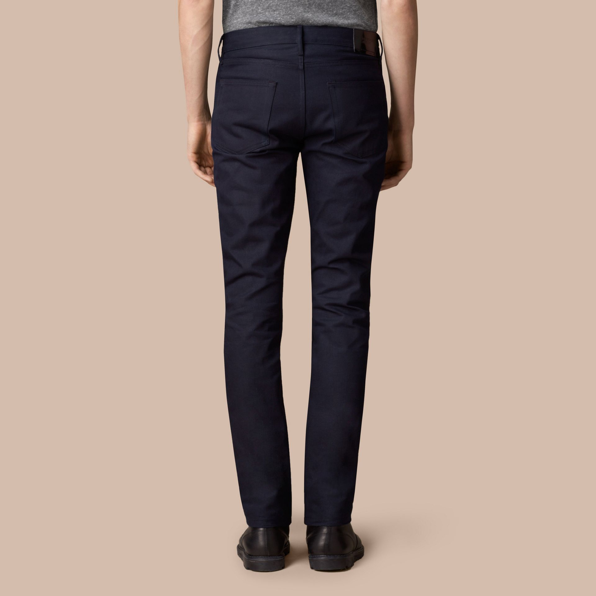 Dark indigo Slim Fit Saturated Selvedge Jeans - gallery image 2