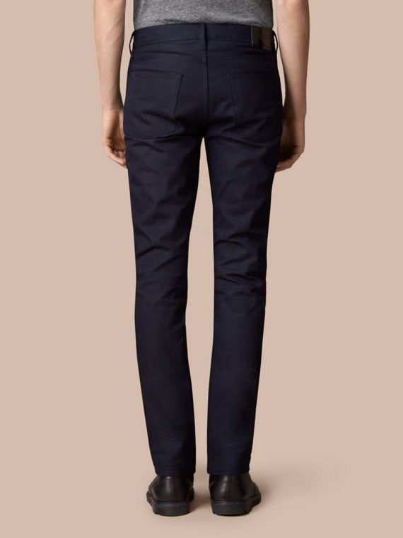 Slim Fit Saturated Selvedge Jeans - Men | Burberry - cell image 2