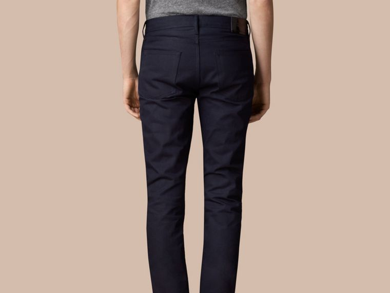 Dark indigo Slim Fit Saturated Selvedge Jeans - cell image 1
