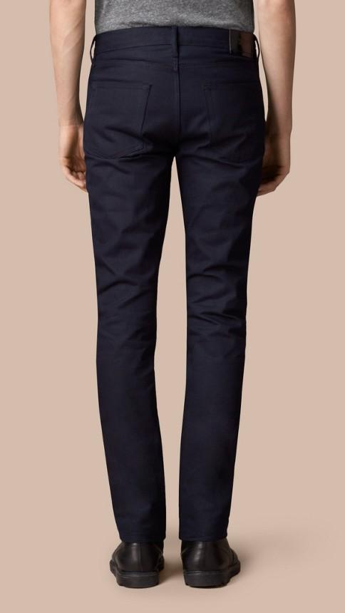Dark indigo Slim Fit Saturated Selvedge Jeans - Image 2