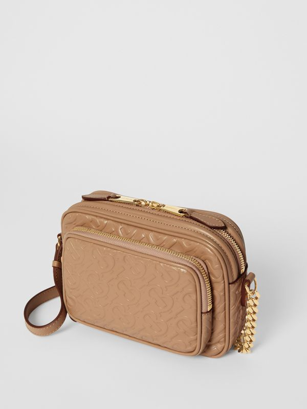 Monogram Leather Camera Bag in Honey - Women | Burberry United States - cell image 3