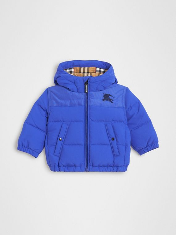 Down-filled Hooded Puffer Jacket in Royal Blue