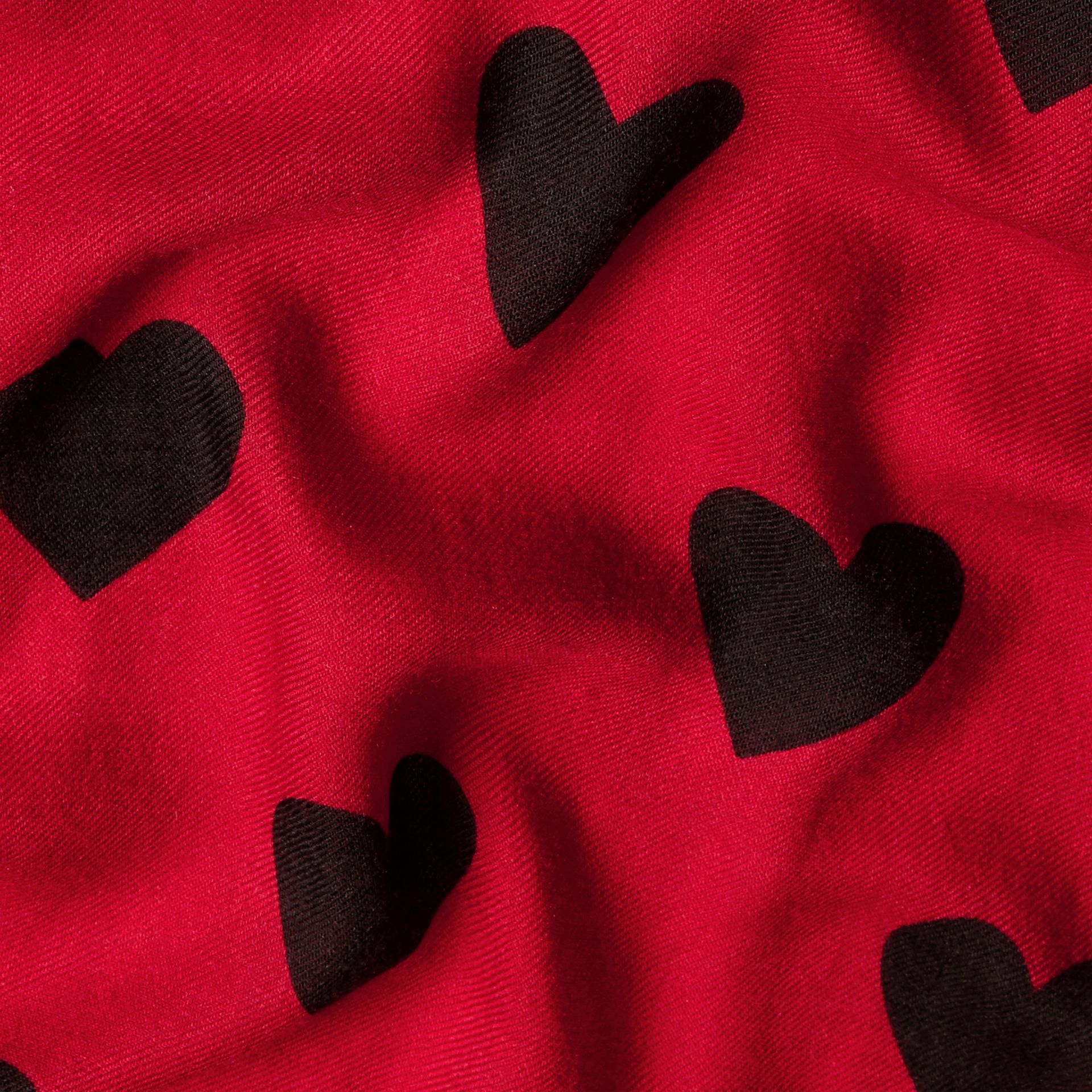 Parade red/black The Lightweight Cashmere Scarf in Heart Print Parade Red/black - gallery image 5
