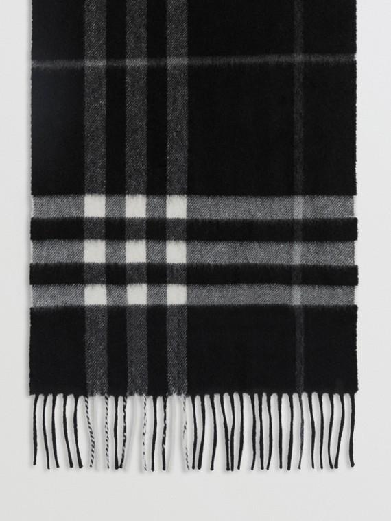 Classica sciarpa in cashmere con motivo tartan (Check Nero)