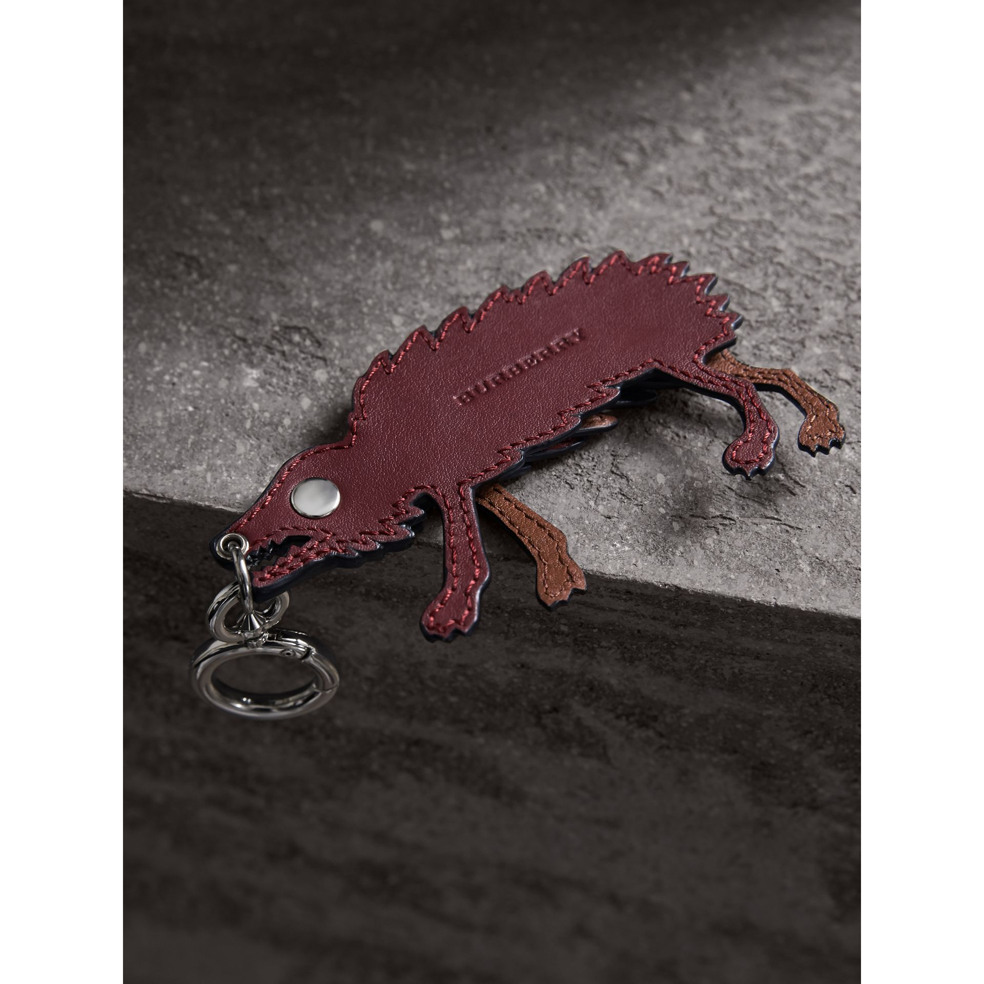 Beasts Leather Key Ring in Antique Red - Men | Burberry Canada - gallery image 3